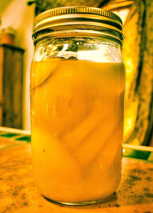 Sunshine in a jar ~ homemade preserved Meyer lemons
