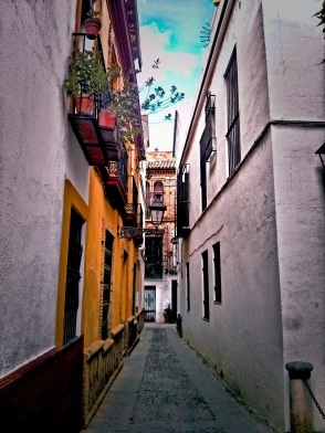 Reminiscing of the quaint back alleys and paths less traveled in Seville, Spain