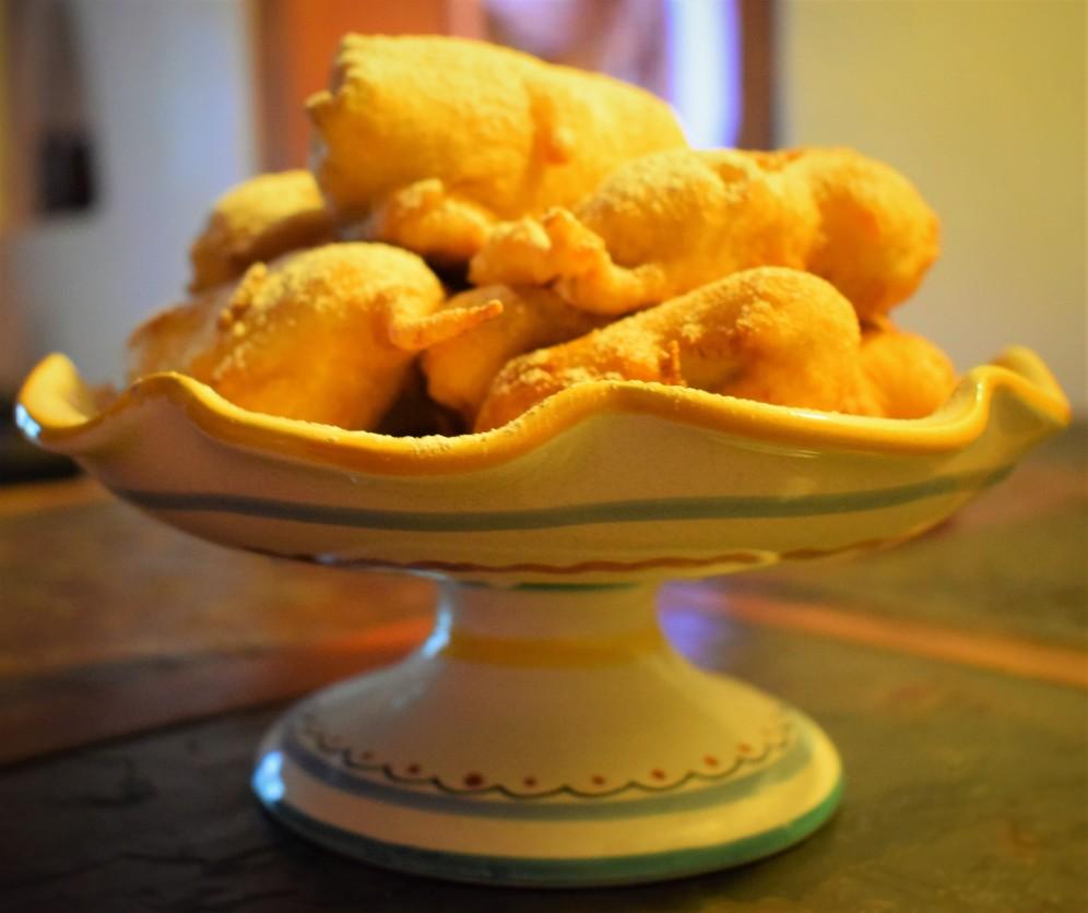 Freshly fried banana beignets, ready to enjoy.