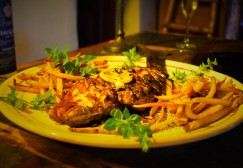 Grilled Red Snapper, Greek~Style, served with French Fries