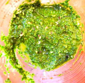 Basil-oregano pesto